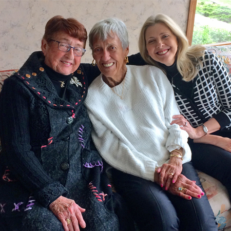 :  Jewel Kintzinger recently donated $50,000 to benefit the Hammond Center for Assisted Living Capital Campaign. Pictured L-R:  Betty Hammond, St. Francis Manor Foundation Board Member, Jewel Kintzinger and Mindy Van Dyke, St. Francis Manor Director of Development.