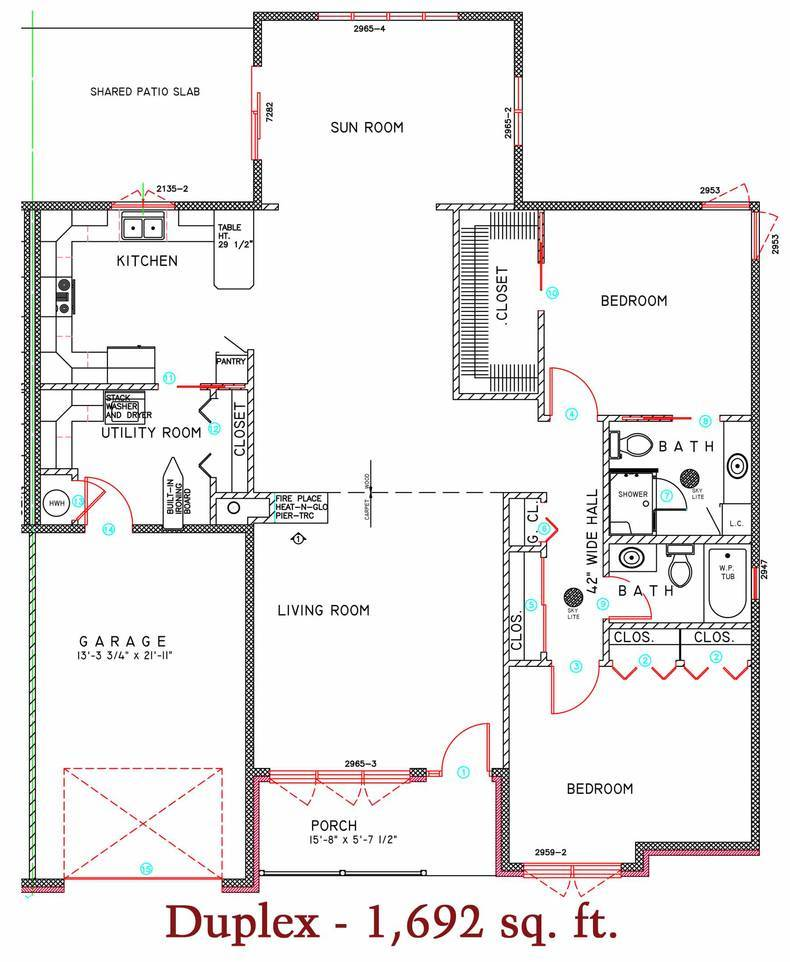 1692 sq. ft. duplex