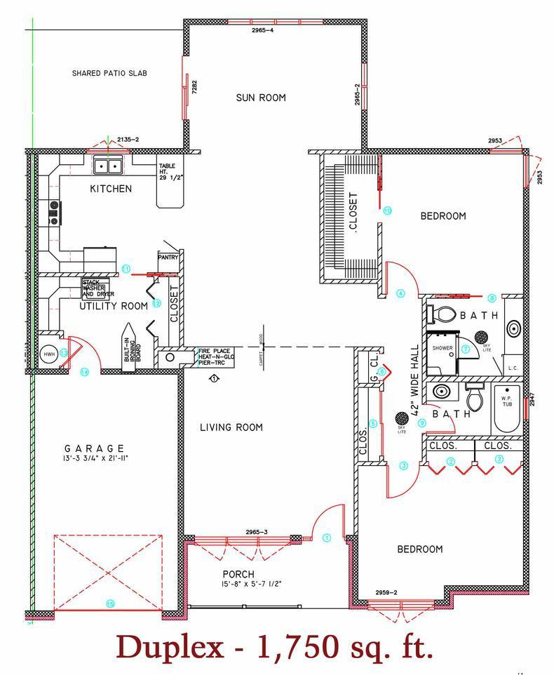1750 sq. ft. duplex 2