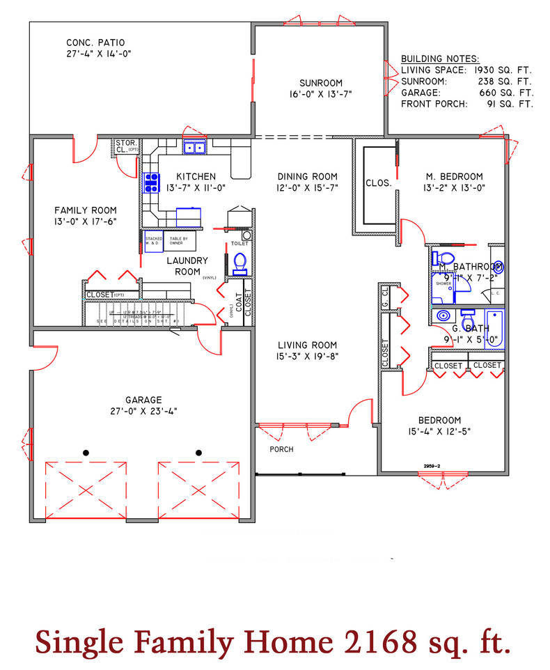 Single Family Home 2168 sq. ft.