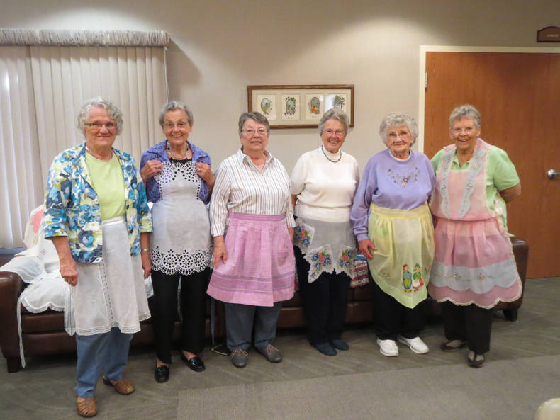 """Aprons in the Attic"" presentation with a ladies' tea"