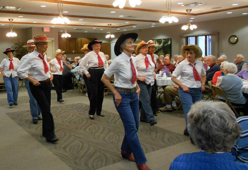 "The Seeland Park ""Parkettes"" perform at Tim's Monthly Party"